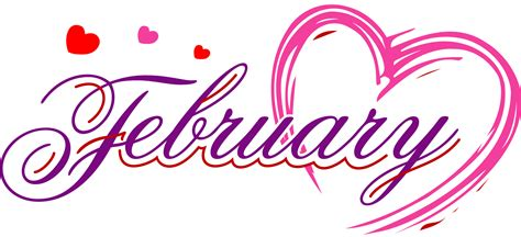 February Images February Month Headings Clip Cliparts