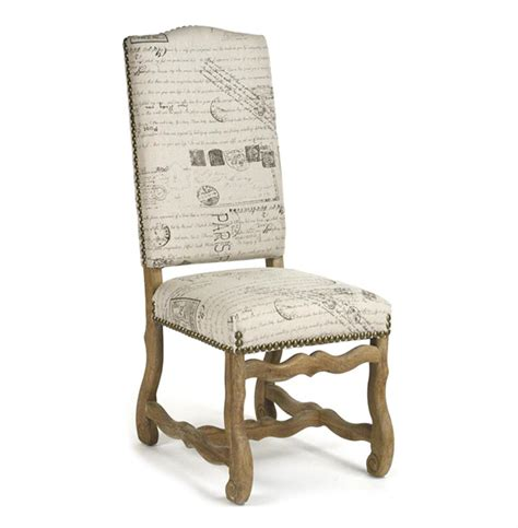 script chair cushions marcelle country linen script camel back dining