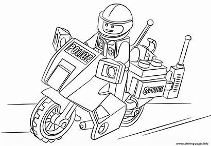 Coloring Lego Police Moto Pages Printable