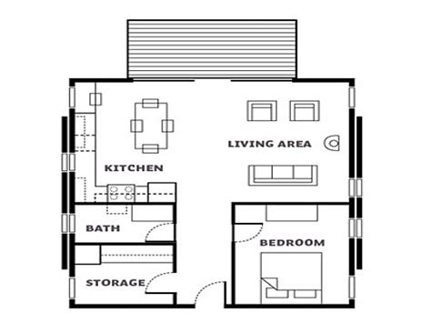 Simple Cabin Floor Plans Simple Small House Floor Plans
