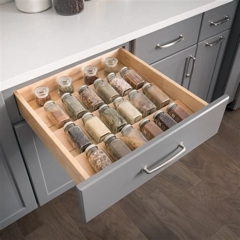 kitchen cabinet storage inserts spice tray insert drawer organizer all cabinet parts 5813