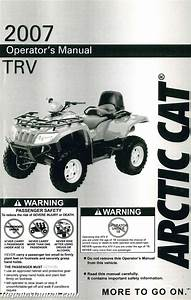 2007 Arctic Cat Trv Owners Manual