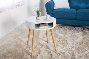 Beistelltisch Eiche Weiß : design retro beistelltisch scandinavia wei eiche nachttisch mit ablagefach riess ~ Frokenaadalensverden.com Haus und Dekorationen