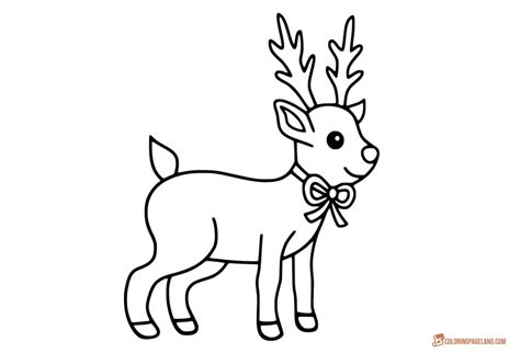 rudolph coloring pages  kids  templates  hd