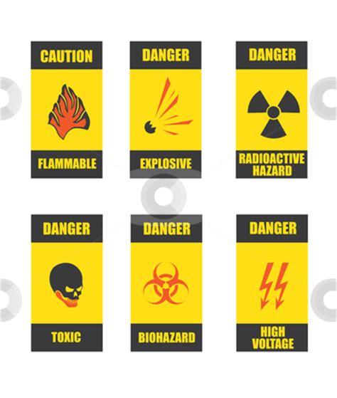 common danger signs stock vector