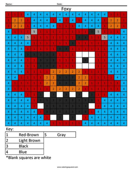 video game color  number coloring squared