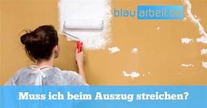 Muss Man Beim Auszug Renovieren : wohnung streichen bei auszug blauarbeit ~ Frokenaadalensverden.com Haus und Dekorationen