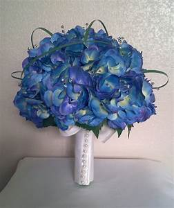 Beautiful Blue Bridal Bouquet | Bouquet Wedding Flower