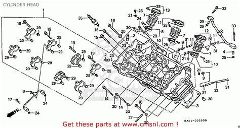 honda cbr250rr mc22 1994 r japan cylinder head buy cylinder head spares online