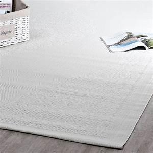 Tapis D Extérieur Maison Du Monde : tapis d 39 ext rieur en polypropyl ne blanc 180 x 270 cm ~ Dailycaller-alerts.com Idées de Décoration
