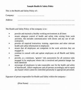 Safety risks how to write a health and safety policy health and health and safety policy statement template health and safety statement of intent template 28 images 10 maxwellsz