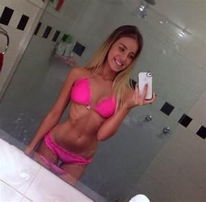 Swimwear: bikini, pink, fluro, fluro pink, neon, neon pink