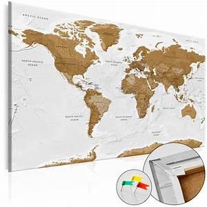 Pinnwand Weltkarte Kork : neuheit leinwandbilder kork pinnwand weltkarte l nder k a 0104 p b ebay ~ Markanthonyermac.com Haus und Dekorationen