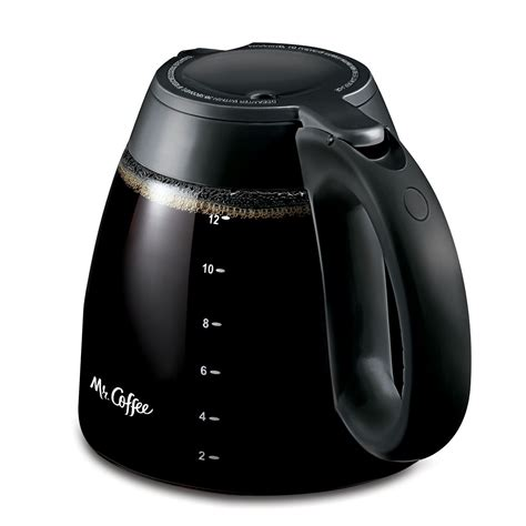It's designed to keep your freshly brewed coffee hot. Mr. Coffee® 12-Cup Glass Carafe, Black on MrCoffee.com