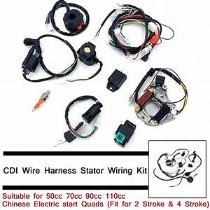 Cdi Wire Harness Stator Wiring Kit For50  70  90  110cc