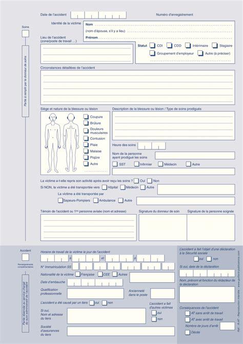 registre du travail modele registre des accidents du travail source www guillard