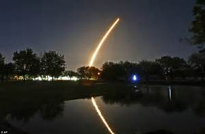 SpaceX lights up Florida night sky with satellite | Daily ...