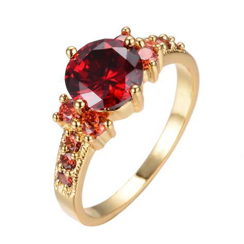 5 80 ct ruby garnet wedding ring 10kt yellow gold filled engagement size6 10 ebay