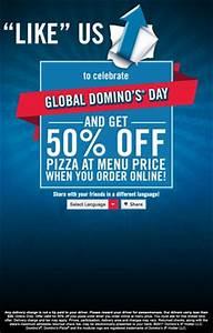 Score half-price Domino's pizza