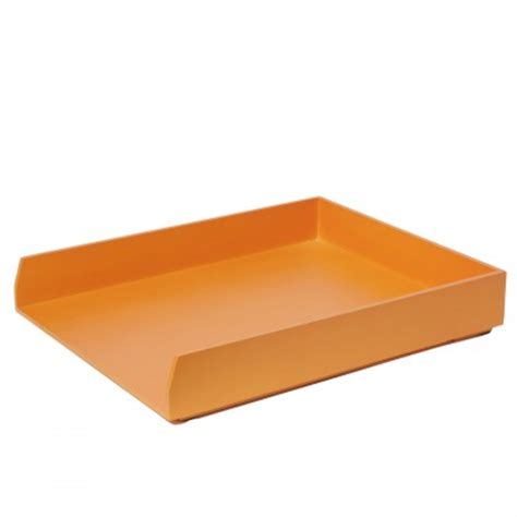 bannettes de bureau bannette orange pour mettre en ordre bureau kollori com
