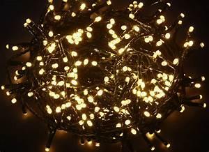LUCI LUCE ALBERO DI NATALE 200 LED INTERNO ESTERNO LED BIANCO CALDO 10 METRI eBay