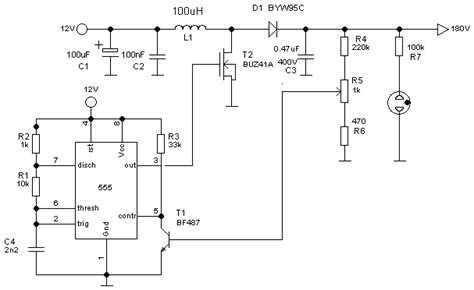 Simple Flyback Converter High Voltage Power Supply For
