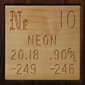 Sample of the element Neon in the Periodic Table