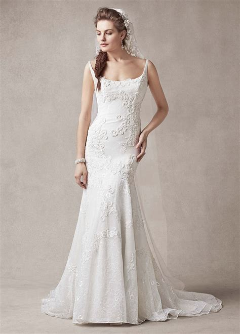 melissa sweet trumpet wedding dress  venise lace