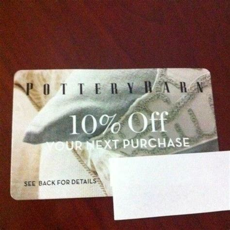 Pottery Barn Gift Card Discount by Pottery Barn 10 Coupon Ebay