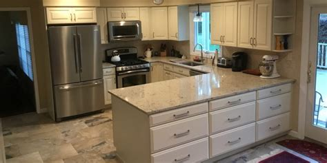 shaped tile u shaped kitchen remodel in nj monk 39 s home improvements
