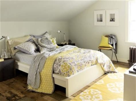 yellow and gray bedroom decorating with gray and yellow
