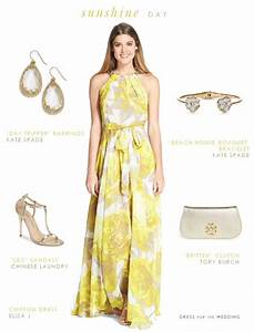 Yellow maxi dress yellow maxi dress summer wedding for Summer wedding dresses for guests