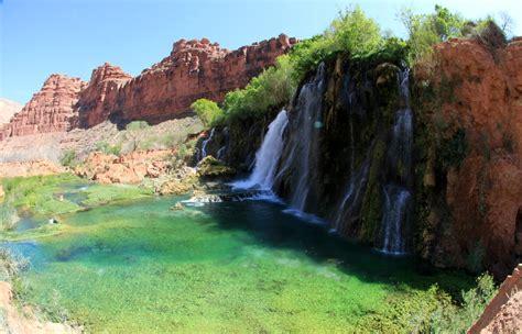 Waterfalls In Havasupai Grand Canyon Arizona Outback