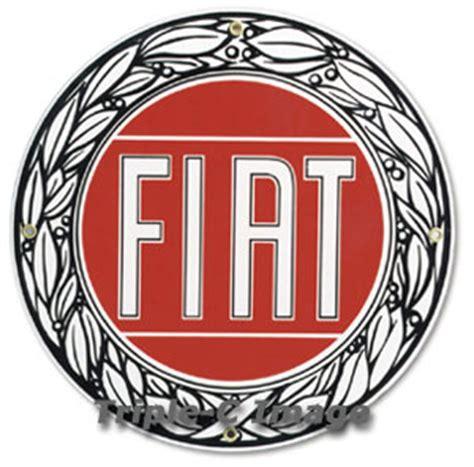 Fiat Sign fiat porcelain sign