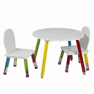 Table Et Chaise Pour Bébé : ensemble table et chaises enfants pieds crayons de couleurs achat vente table b b ~ Farleysfitness.com Idées de Décoration