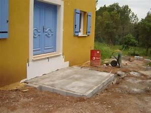 construction de l39escalier With couler une terrasse contre une maison