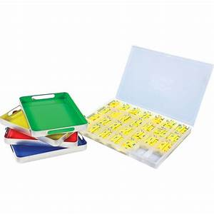 magtivity tins with soft touch magnetic foam letter tiles With classroom magnetic letters kit