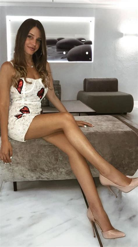 I ️ Her Tight Mini Dress And High Heels She Has Long