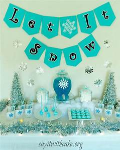 Let it Snow Christmas Party Say it With Cake