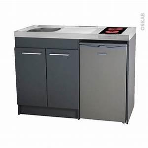 Cadre Inox Pour Plaque Vitroceramique : kitchenette vitroc ramique meuble sous vier gris avec ~ Premium-room.com Idées de Décoration