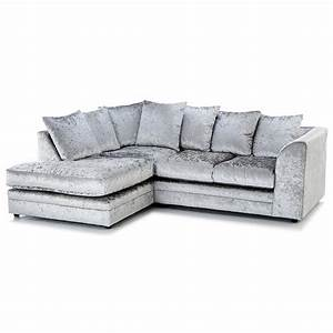crushed velvet furniture sofas beds chairs cushions With silver velvet sectional sofa