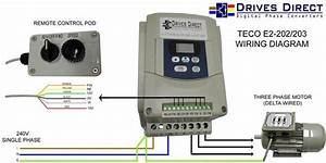 Teco Ev 2hp 240v Single To 3 Phase Converter Inverter