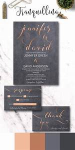 copper wedding invitation printable modern wedding With wedding invitations 600gsm