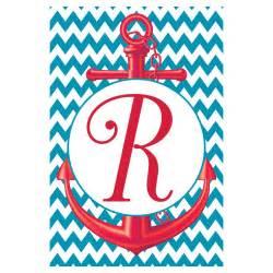 Chevron Anchor Monogram with Letter K