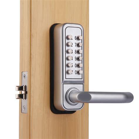 code door lock mechanical keypad security digital code door lock push