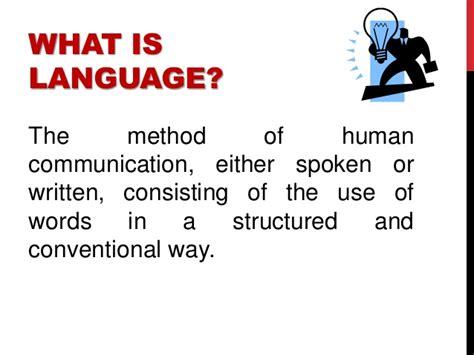 language definition nature and characteristics