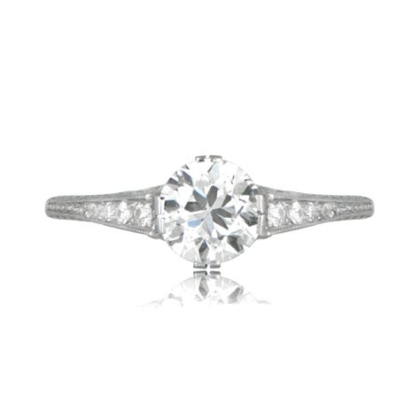 deco style engagement rings deco style platinum engagement ring