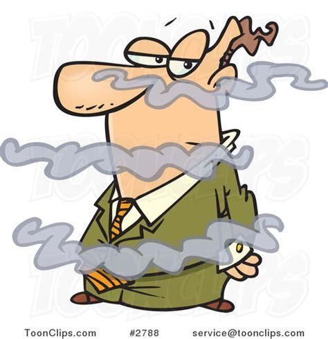 Cartoon Business Man In A Fog #2788 By Ron Leishman