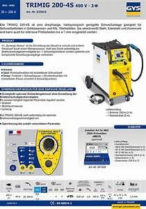 Schutzgas Schweißgerät 400v : gys mig mag schutzgas schwei ger t trimig 200 4s 033818 ~ Jslefanu.com Haus und Dekorationen