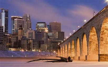Minneapolis Arch Stone Bridge Repaid Desktop Wallpapers